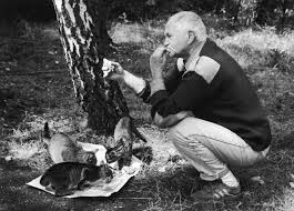 hrabal with cats